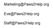 Paws2Help Emails
