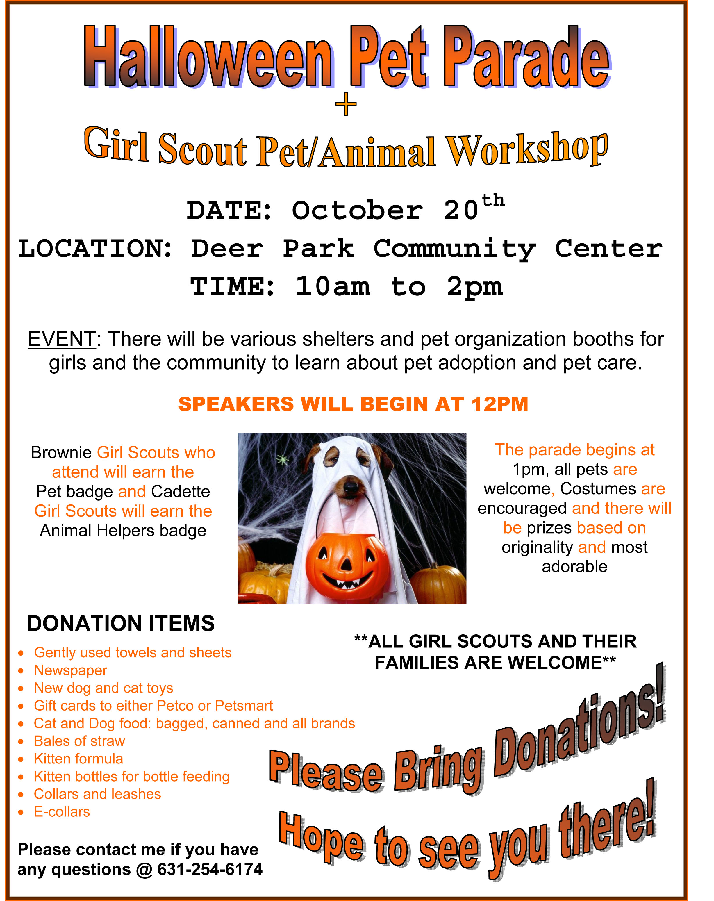 12.10.20 Girls Scout Pet Animal Workshop