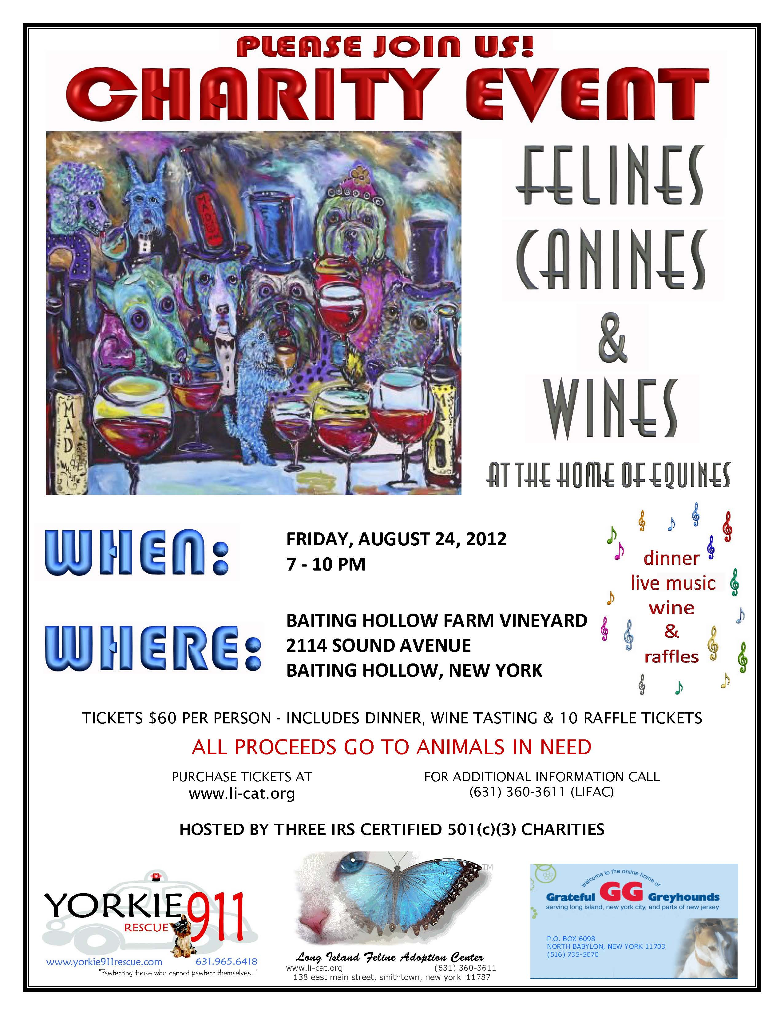 12.08.24 Felines, Canines & Wines Flyer
