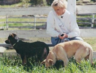 Web Image: Inge and 2 dogs (cropped)